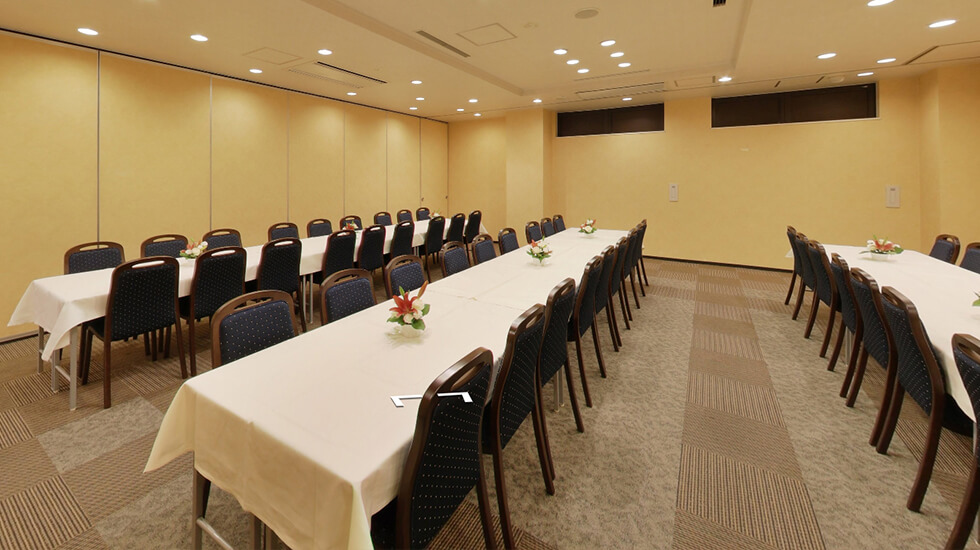 コムウェルホール高円寺のお清め室の写真。通夜振る舞いや法事法要にも利用することができる
