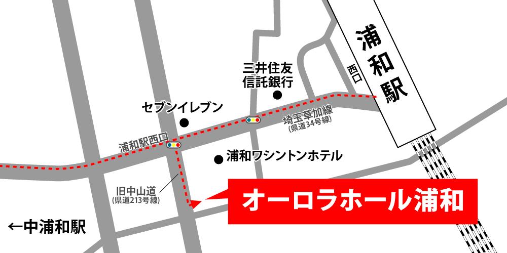 ティア越谷への徒歩・バスでの行き方・アクセスを記した地図