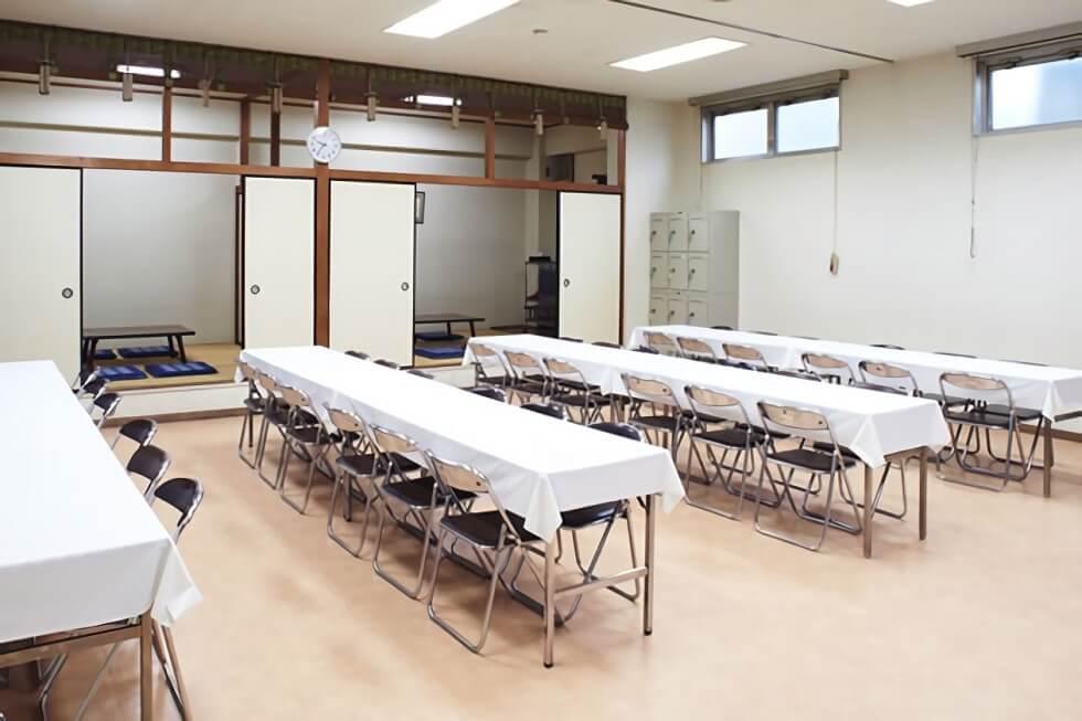 セレモニー会館の親族控室。お清めどころとしても利用が可能。宿泊に使用することもできる