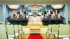 土浦斎場の式場内部の写真