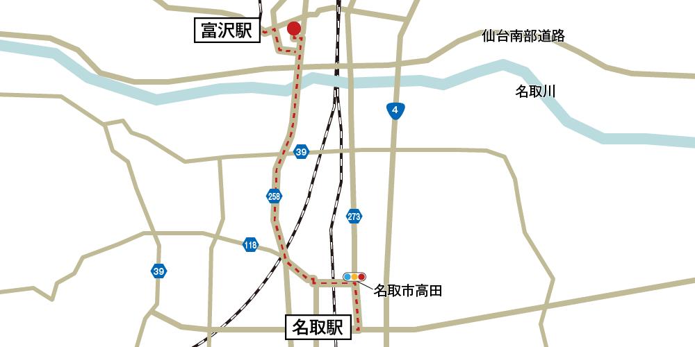 セレモール太白への徒歩・バスでの行き方・アクセスを記した地図