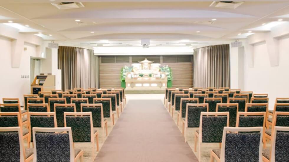 イズモホール浜松の葬儀式場の写真。イズモホール浜松館内に14の式場がありさまざまなスタイルの葬儀に対応している