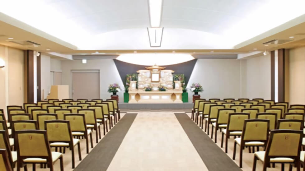 イズモホール貴布祢の葬儀式場。音楽葬祭やお別れ会など、故人に合わせた個性豊かな葬式スタイルをかなえることができる