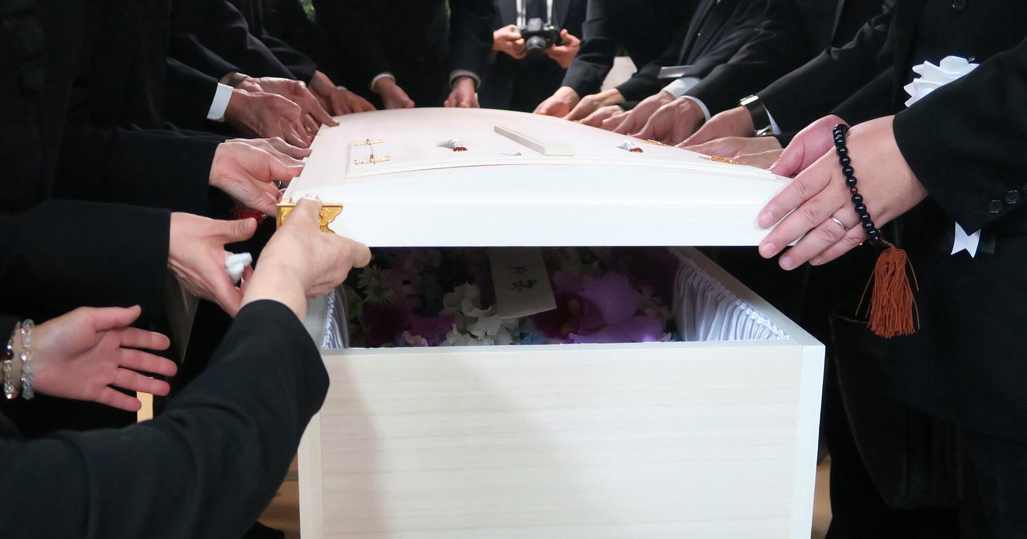 納棺・告別式を行う一日葬のイメージ