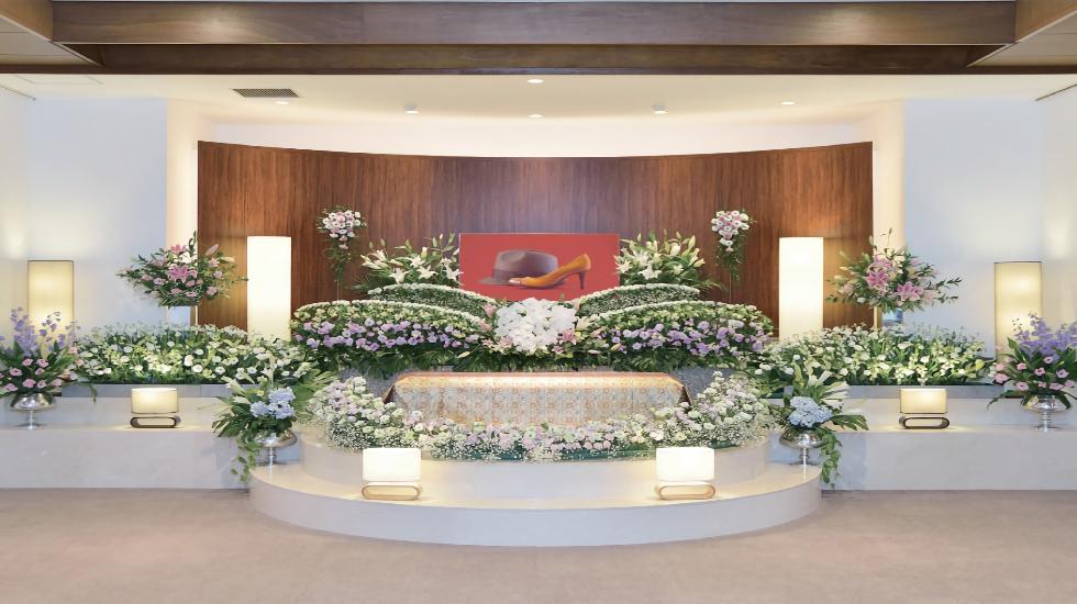 セレモニーホール青柳の葬儀式場の内観写真
