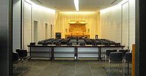 浦安市斎場の葬儀式場の様子。50名が参列できる広さがある