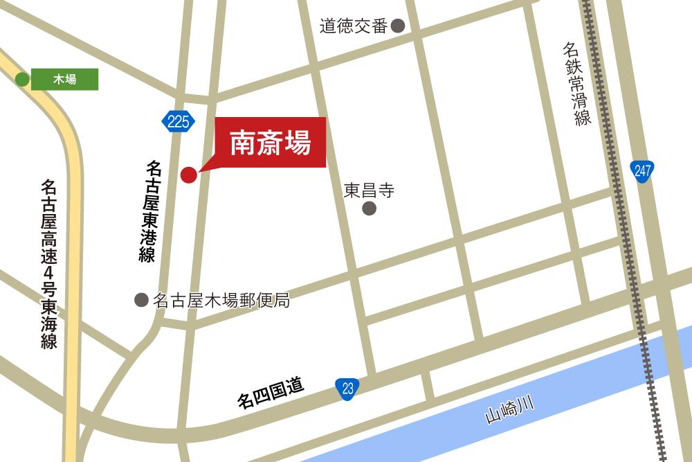 南斎場への車での行き方・アクセスを記した地図