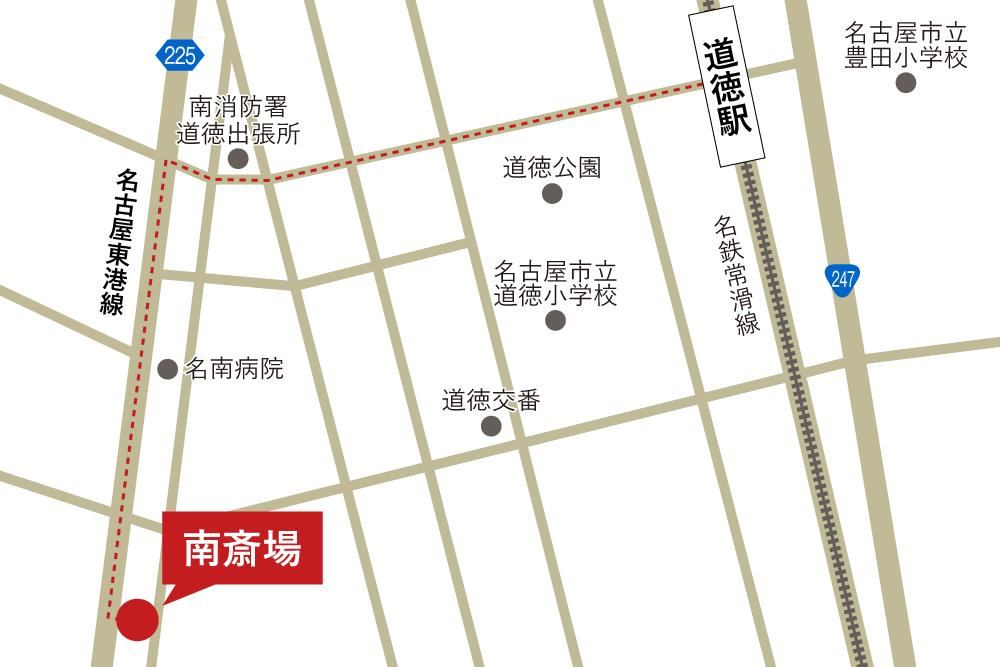 南斎場への徒歩・バスでの行き方・アクセスを記した地図