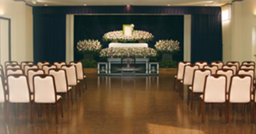 川口市の民営斎場「グリーンホールはとがや」家族葬専用ホール