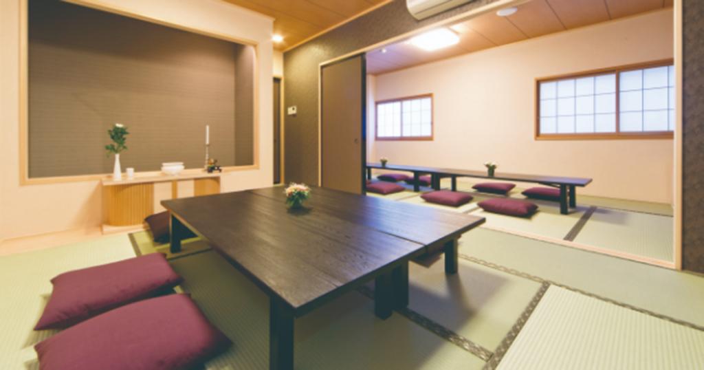 静岡市駿河区の民営斎場「ファミリーホール新川」親族控室