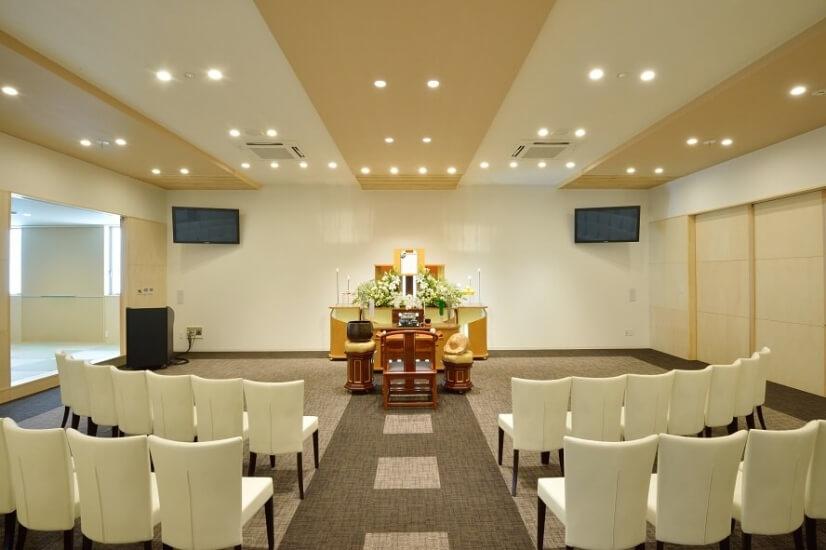 セラホール名取の家族葬専用の葬儀式場。1日1組限定の葬儀場