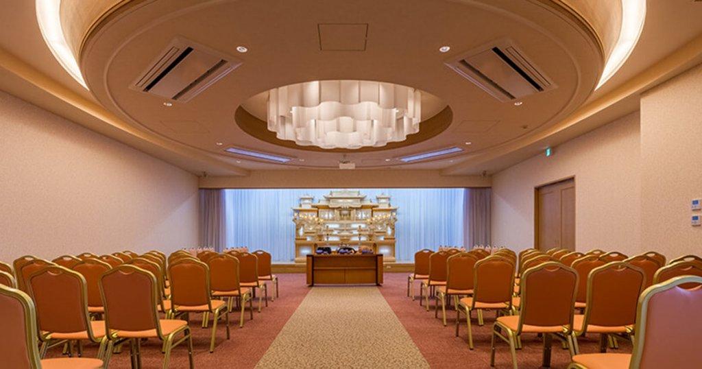 深谷市の民営斎場「さいたまセレモニーホール深谷」2階ホール