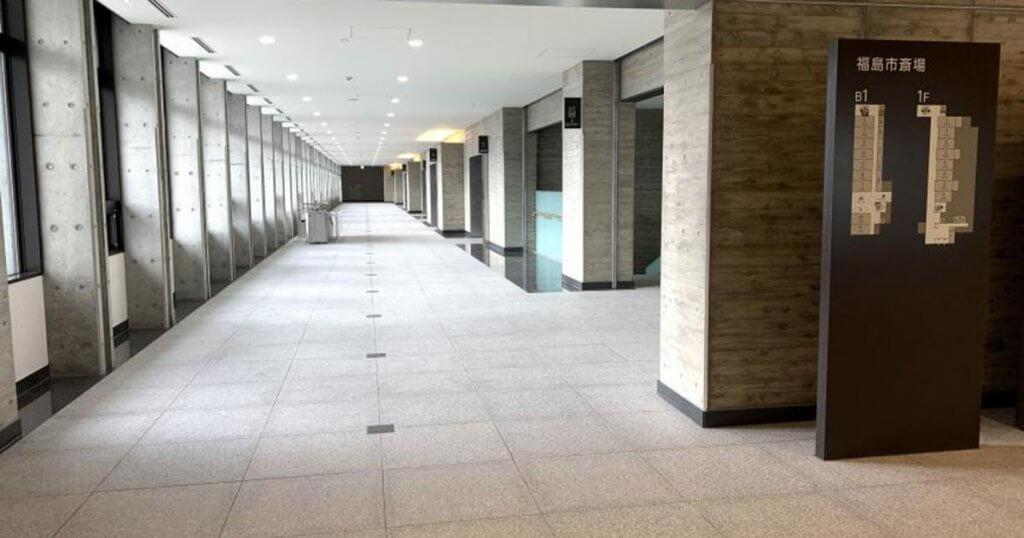 福島市の公営斎場「福島市斎場」回廊