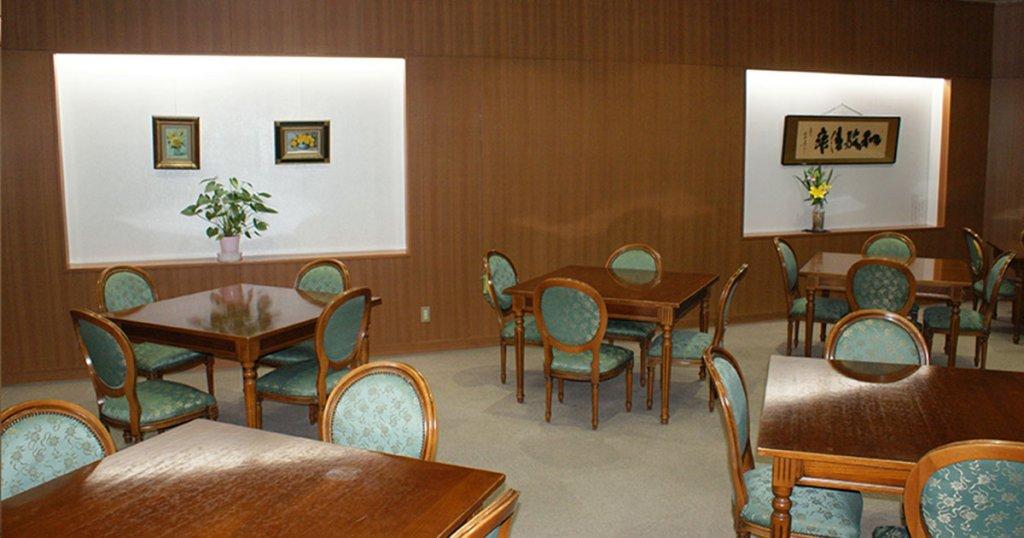 大川市の民営斎場「大川中央草苑」会食室、待合室