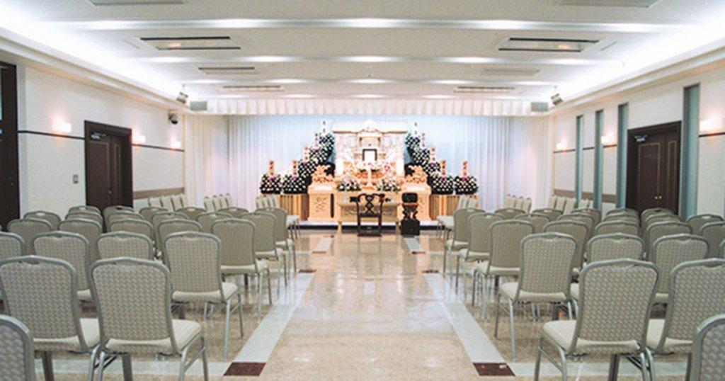 文京区千駄木の民営斎場「道灌山会館」葬儀式場