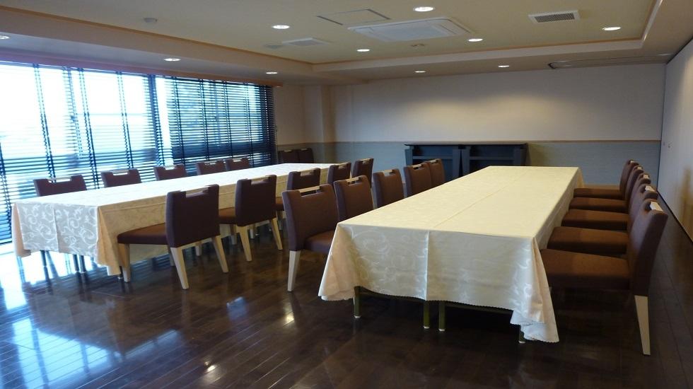 飛田給メモリードホールの会食室