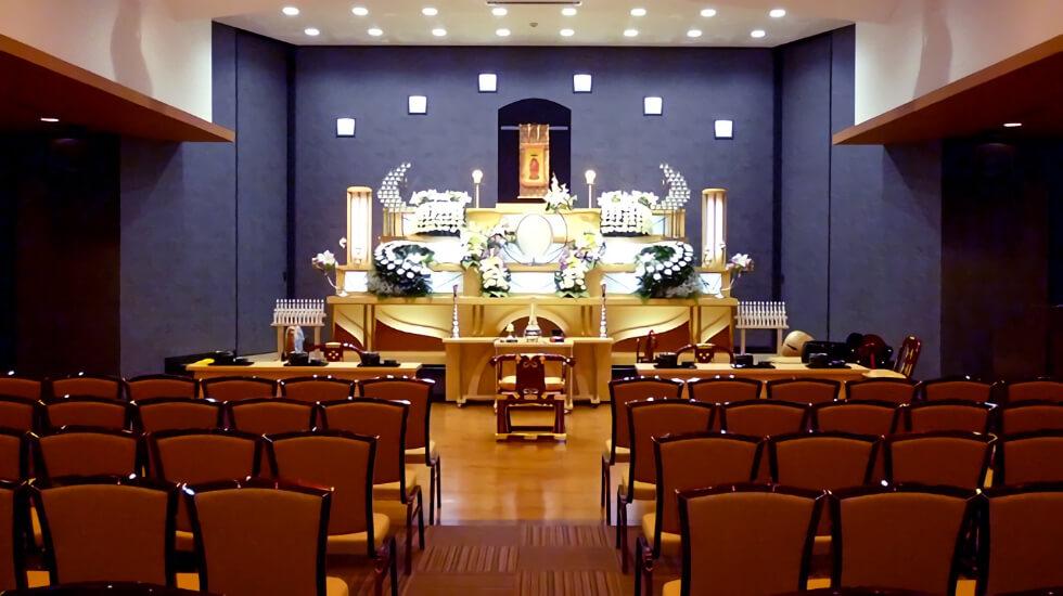 セレモニーホール鶴岡駅前の葬儀式場の内観