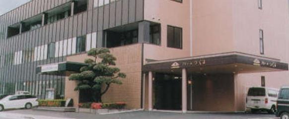 津久見市中央町にある民営斎場プリエールつくみの外観です。