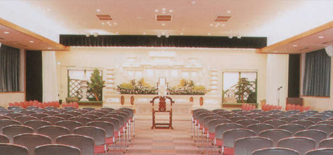 プリエールつくみの大ホール、最大200名収容可能。