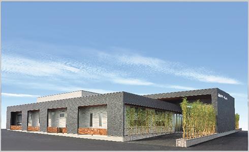 児湯郡高鍋町にある民営斎場「高鍋メモリードホール」の外観です。