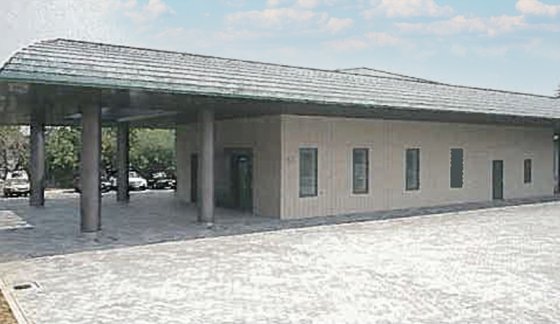 大阪市平野区にある公営の火葬場・葬儀場「大阪市立瓜破斎場」の外観
