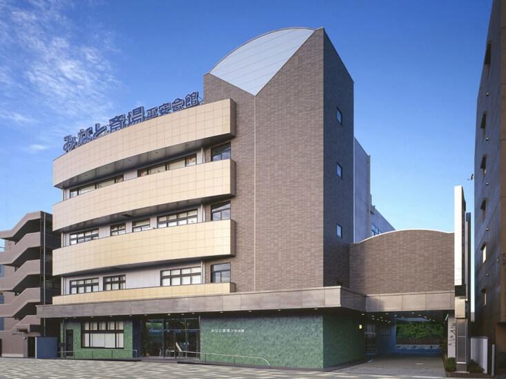 名古屋市港区にある平安会館 みなと斎場の外観です