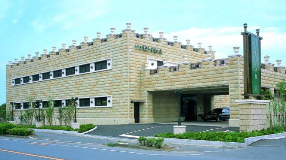 上尾市東町にある民営斎場「上尾メモリードホール」