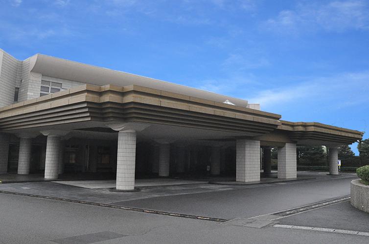 鹿児島市が運営する公営の火葬場「鹿児島南部斎場」の外観