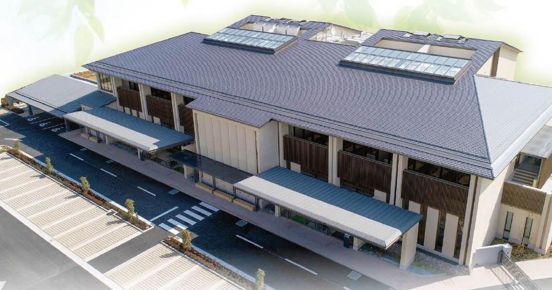 伊勢原市と秦野市が共同で運営している公営の火葬場「秦野斎場」の外観