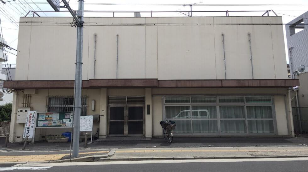 大阪市住吉区にある公共施設「遠里小野会館」の外観